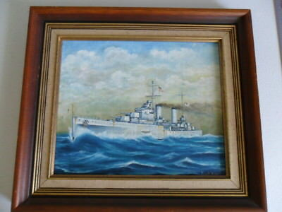 Naval, Royal Australian Navy WWII  HMAS HOBART  painting by Kevin Hollister 1983