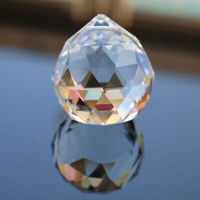20pcs 20mm Faceted Crystal Chandelier Clear Ball Pendant for Living Room Bedroom