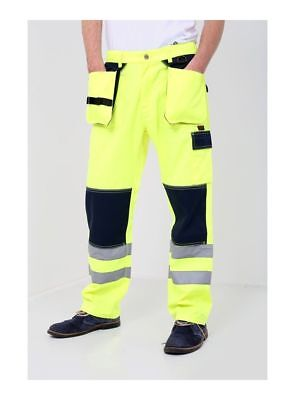 Hi High Visibility Comfort 2 Tone PolyCotton Cargo Trousers Work Combat Pants