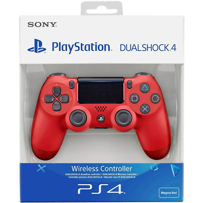 Controller PS4 JoyPad DualShock®4 Wireless V2 per Sony Play Station 4, Magma Red