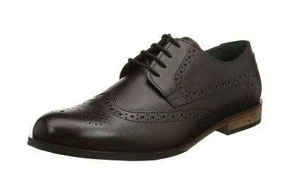 Lotus Mens Black Leather Lace Up Denford Derby Brogues UK Size 11