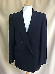 "St Michael Marks & Spencer navy blue pure new wool to fit 42""M blazer jacket"