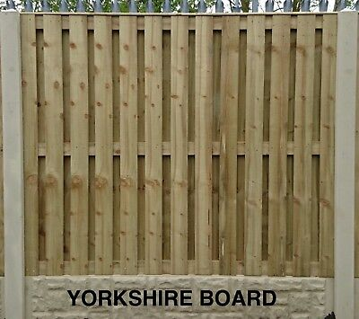 Yorkshire Board Pressure Treated & Tanalised Fence Panel 6ft W x 2ft to 6ft H
