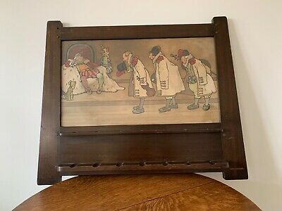 Liberty & Co Arts and Crafts pipe rack John Hassall Litho print Old King Cole