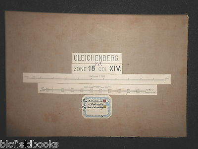 Vintage Military? Folding Map c1880 of Gleichenberg (Austria) Zone 18, Col XIV