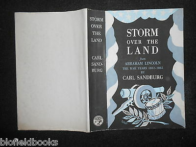 ORIGINAL VINTAGE TISDALL DUSTJACKET (ONLY) Storm Over The Land by Carl Sandburg