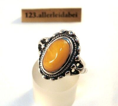 alter Butterscotch Bernstein Ring 935 Silber amber / AY 513