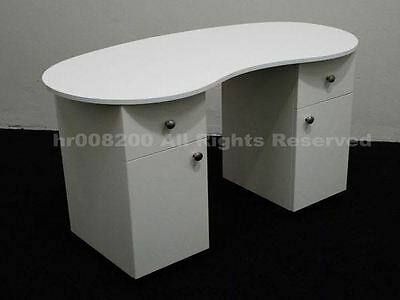 BRAND NEW WHITE HIGH GLOSS Manicure Technicians Table Station Nail Bar