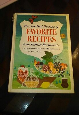 Vintage 1963 Harcover The New Ford Treasury of Favorite Recipes by Nancy Kennedy