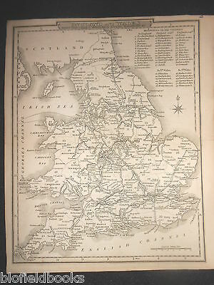 England and Wales Map, c1850 - With Canals, Navigable Rivers, Railroads, &c