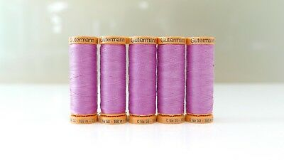 Gutermann 100% Natural Cotton Sew-all Thread Pink Lilac Col. 3526 - 100m