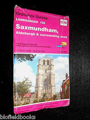 ORDNANCE SURVEY LANDRANGER MAP - Saxmundham, Aldeburgh & Area -  Sheet 156, 1994