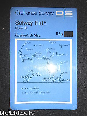VINTAGE ORDNANCE SURVEY MAP - Solway Firth - 1974 - Quarter Inch - Scotland