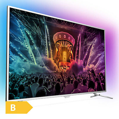Philips Ultra HD 4K Fernseher 123cm 49 Zoll 3-fach Ambilight LED Android DVB-T2