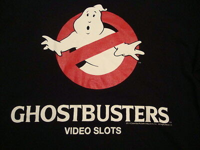 Ghostbusters Video Slots IGT 'Who you gonna call?' MOVIE promo T Shirt XL