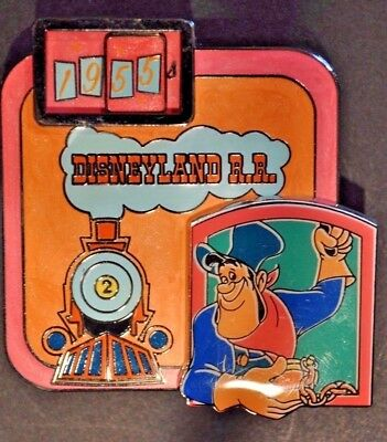 Disney Pins - DLR - Dateline: Disneyland Railroad 1955- Slider - LE 755 RARE!