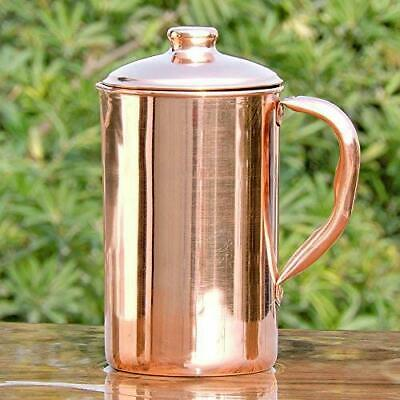 Pure Copper Handmade Water Jug Copper Pitcher For Ayurveda Health Benefit 1.5L