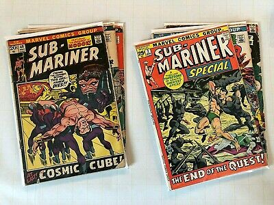 SUB-MARINER BRONZE AGE Comic Lot of 6  # 49 50 54 56 61 Special 2  1st NAMORITA