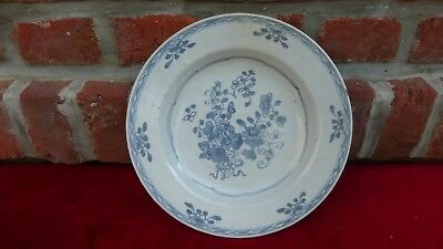 Antique chinese export porcelain plate. XVIIIth C. Ancienne assiette Chine...146