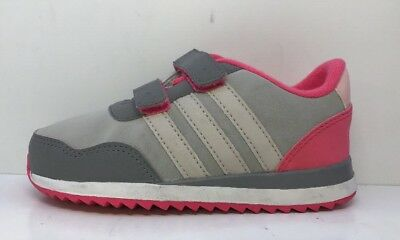 Adidas Girls V Jog CMF Grey / Pink Uk Infants 9