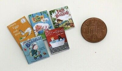 Dolls House Miniature 5 Childrens Books (DD182) Additional Items P&P FREE