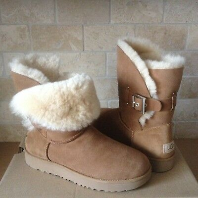 6431380d66d UGG PURE WOMEN'S Aliso Ankle Buckle Boots Size 7 Chestnut - $75.00 ...