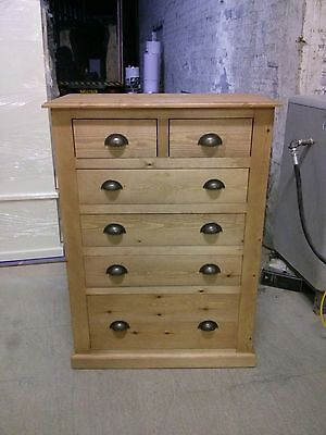 Pine Furniture Victorian 4+2 Drawer Large Jumper Chest Med Oak/ Rustic Cups