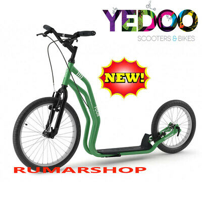 2019 nieuw YEDOO PUSH KICK CITY ROLLER SCOOTER STEP FOUR green