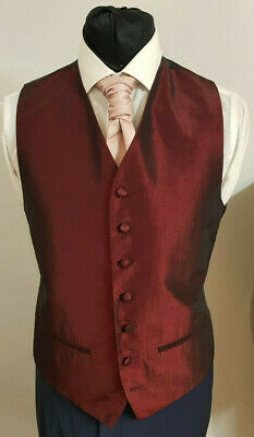 W - 1113 Mens/Boys  Burgundy Waistcoat Party / Formal
