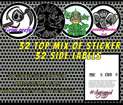 32 Cali JAM JAR Labels and 32 stickers / tubs Stickers only / MIX PACK