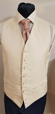W - 1111 Mens/Boys  Ivory  Wave Patterned Waistcoat Party / Formal