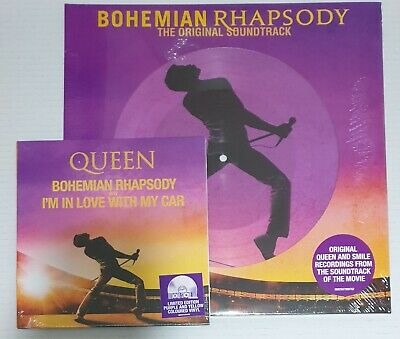 """Queen Bohemian Rhapsody 2LP Picture disc + 7"""" I'm in Love with My Car RSD 2019"""