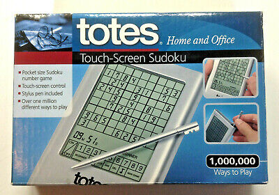 Totes Pocket Size Sudoku Hand Held Touch Screen Electronic Travel Game NEW