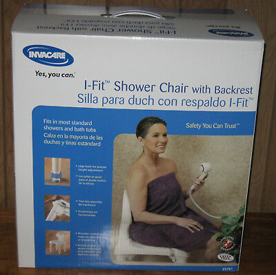Invacare I-Fit Shower Chair With Backrest #9781 New In Box