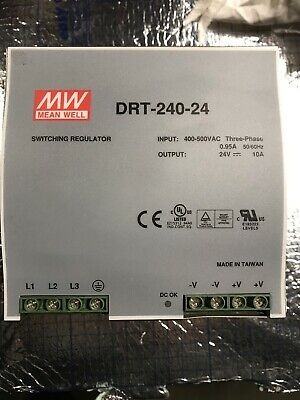 Alimentation 24 V 10A MW Mean Well Réf DRT-240-24
