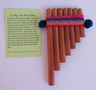 "13 Pipes Curved Pan Flute Beginners Level Nice Sound 5 1//4/"" X 6 1//2/"" Peru #230"