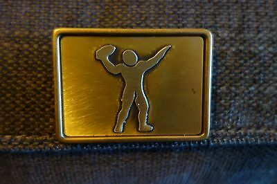Oden Solid Brass Football Belt Buckle Made in USA