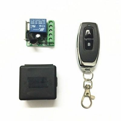 12V DC 1CH Relay Receiver RF Transmitter 433Mhz Wireless Remote Control Switch