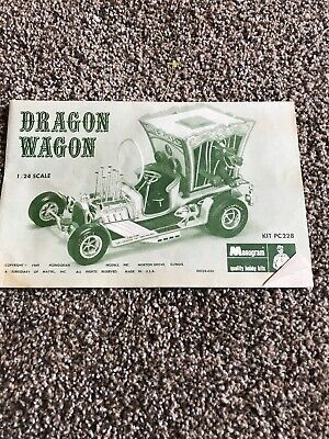 DRAGON WAGON /& BIG RED BARON 1969 MATTEL MONOGRAM WILD RODS REPLICA METAL SIGN
