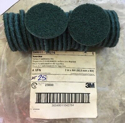 "25: 3M 048011-04276 2"" Hook & Loop Surface Conditioning Disc A VFN Scotch-Brite"