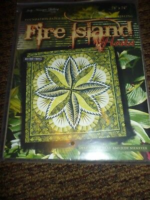 Judy Niemeyer FIRE ISLAND HOSTA Foundation Paper Pieced Quilt Pattern