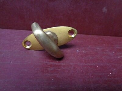 "1 Vintage Nos ""more Avail"" Brass Lock Thumb Turn Flat 1/4"" X 1 1/8"" #6"