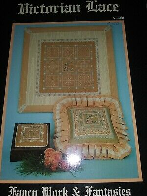 1987 Victorian Lace Fancy Work & Fantasies Harndanger Embroidery Carol Costello