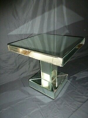 Vintage Retro Art Deco Style Bevelled Mirrored Coffee Occasional Table