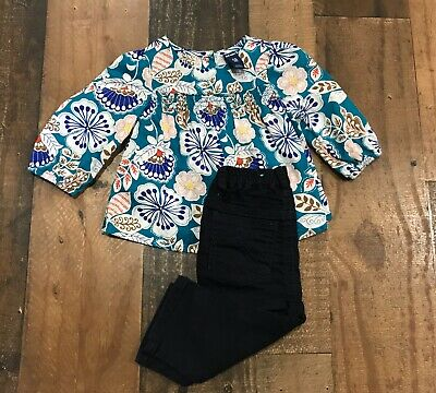 Old Navy/The Childrens Place -Baby Girl Floral LS Shirt & Pants Outfit - SZ 3-6M