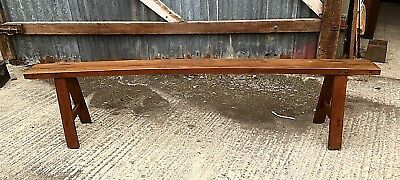 Antique French Fruitwood Bench Seat