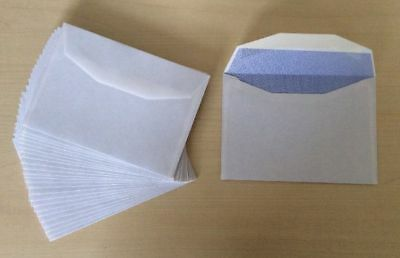 400x White Envelope C6 (114 x 162mm) 90 gsm Opaqued Quality Mailer Gummed