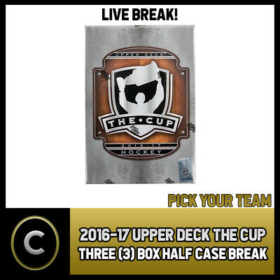 2016-17 Upper Deck The Cup - 3 Box Half Case Break #H334 - Pick Your Team -