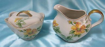 Meito Norleans Sugar and Creamer Set Sun Glory China, Made in Occupied Japan