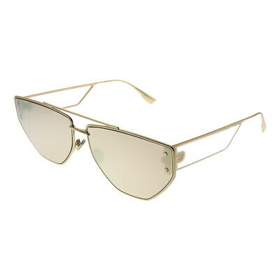 2714f5c03020 Christian Dior Clan2 000 SQ Rose Gold Metal Aviator Sunglasses Gold Mirror  Lens